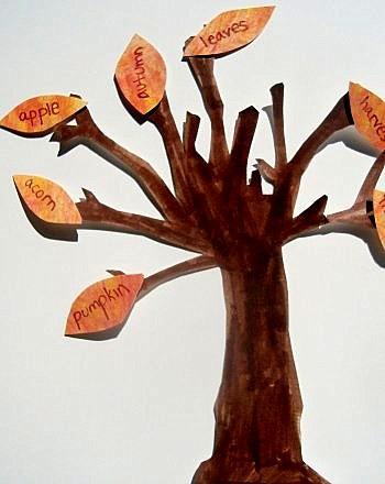 Fall leaves sight word tree, fun autumn activities for kids