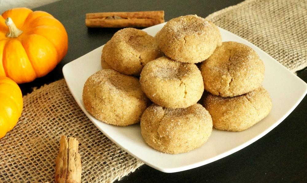 Gluten free pumpkin spice snickerdoodles - soft pumpkin snickerdoodles