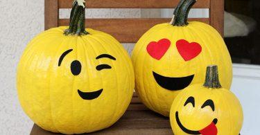 No carve emoji pumpkins Cutefetti