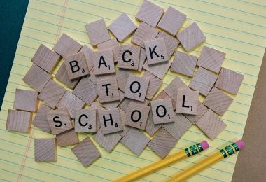 back to school sign scrabble pieces