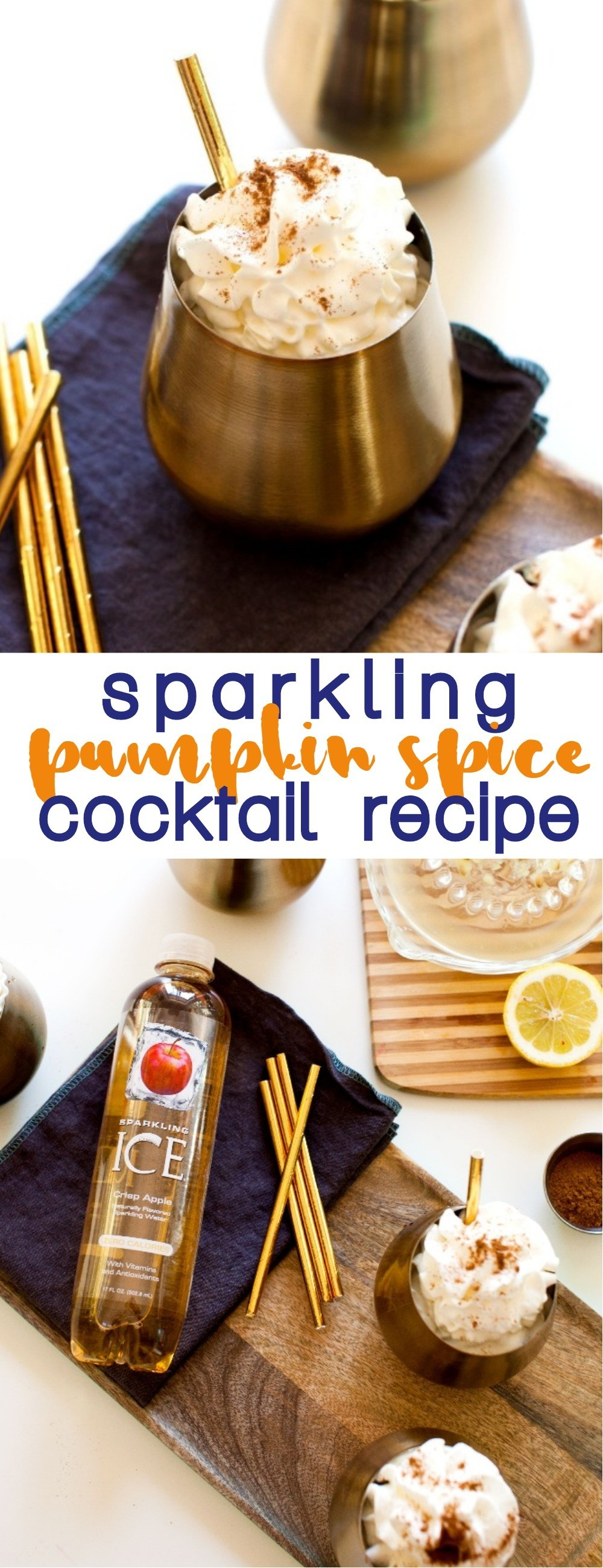 This Sparkling Pumpkin Spice Cocktail Recipe Is The Perfect Fall Drink Recipe