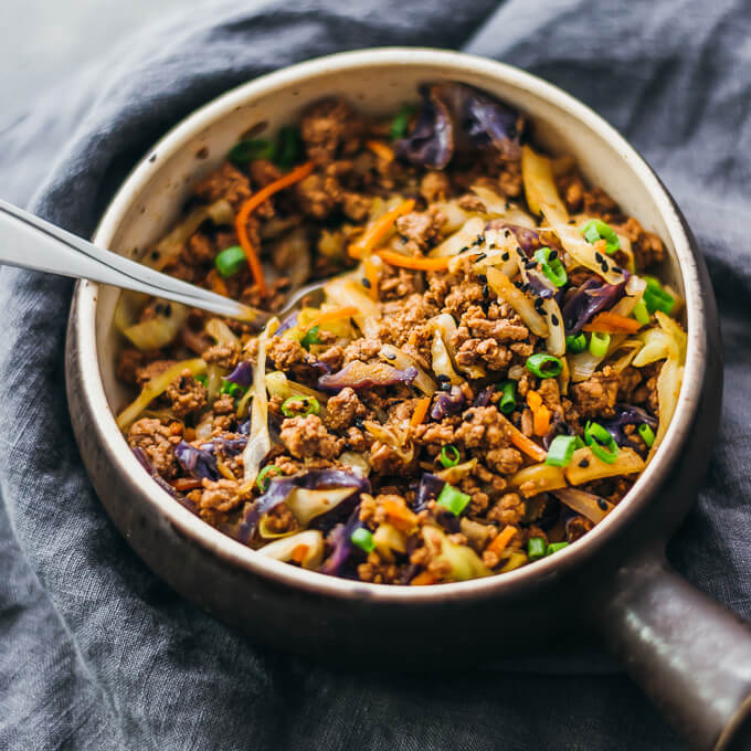 ground-beef-cabbage-stir-fry, Savory Tooth