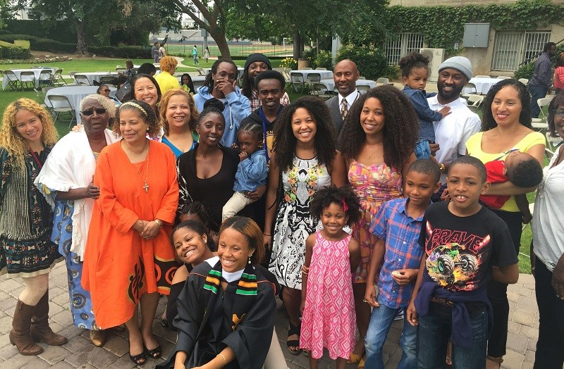 Beautiful black family photo at a college graduation - Copy