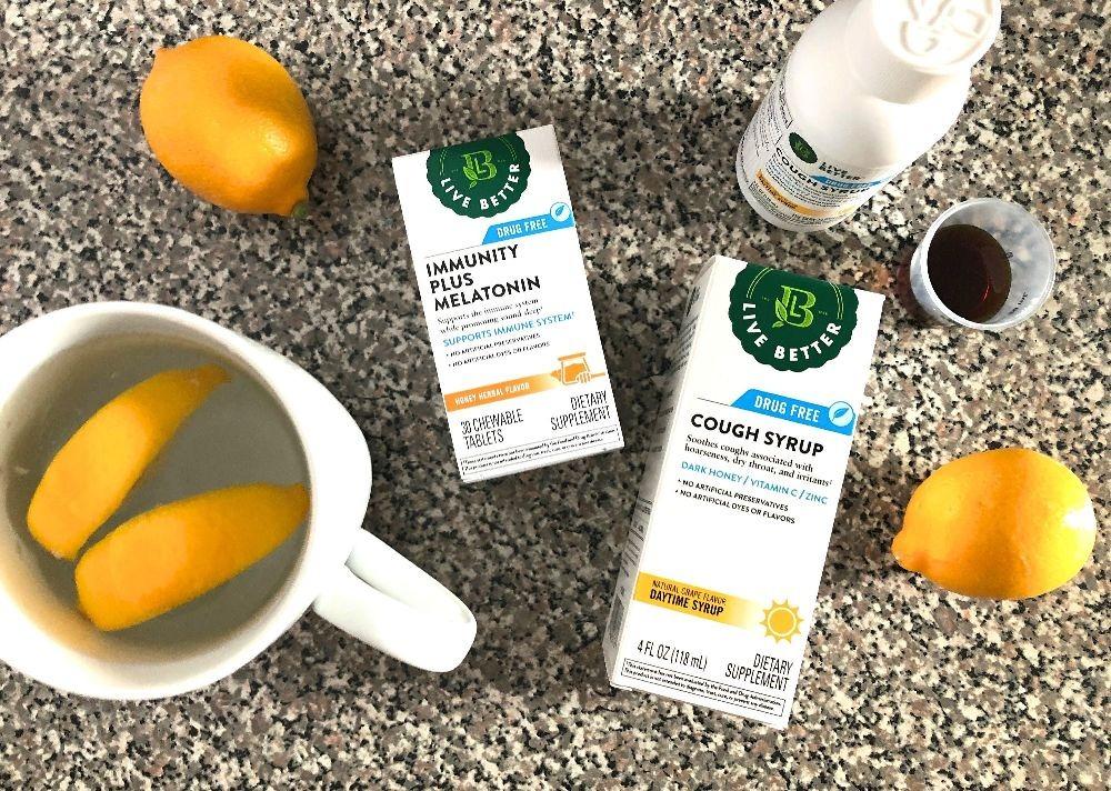 CVS Live Better brand drug free cough syrup and immunity melatonin (1)