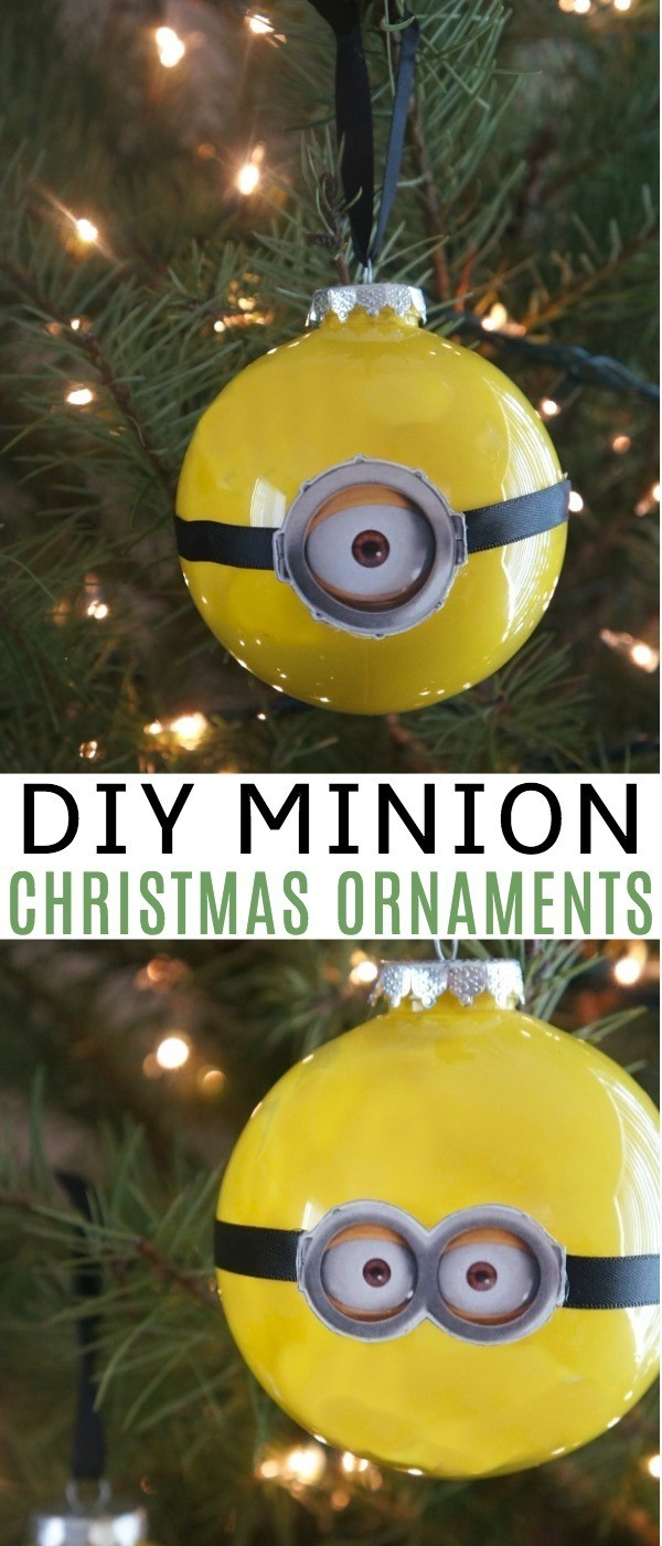 DIY Minion Christmas Ornaments - Holiday Fun For Despicable Me 3 DVD Release