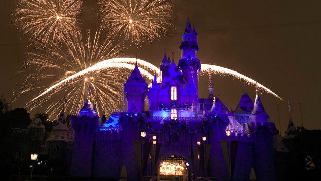 photo: Disneyland Resort. Disneyland Believe in Holiday Magic fire works show