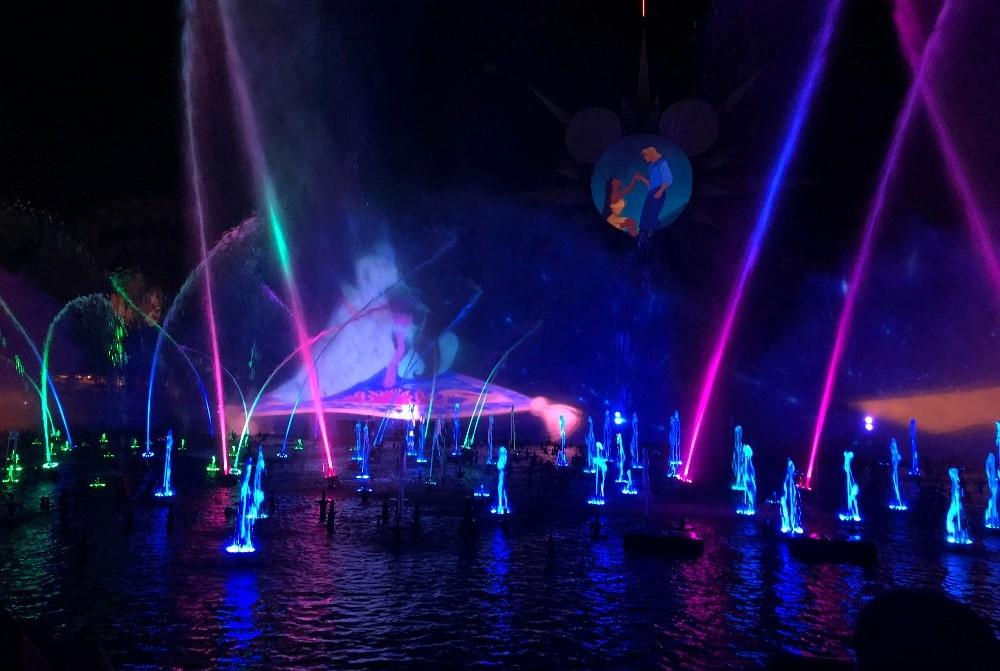 World of Color - Season of Lights at Disneys California Adventure Park 2017