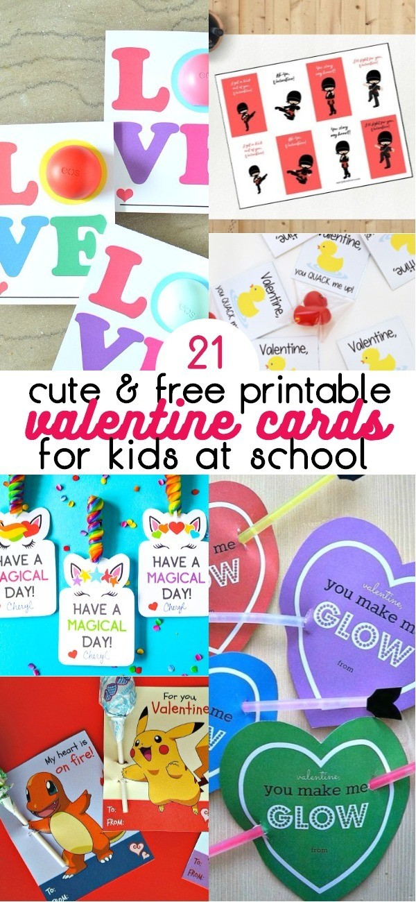 picture about Printable Valentines Pictures named 21 Lovable No cost Printable Valentine Playing cards For Faculty Delight in