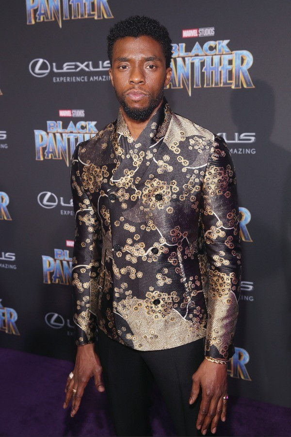 Actor Chadwick Boseman at Marvel BLACK PANTHER premiere in Los Angeles, CA