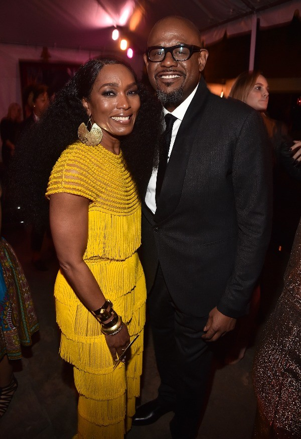 Angela Bassett and Forrest Whittaker at Marvel BLACK PANTHER premiere in Los Angeles, CA