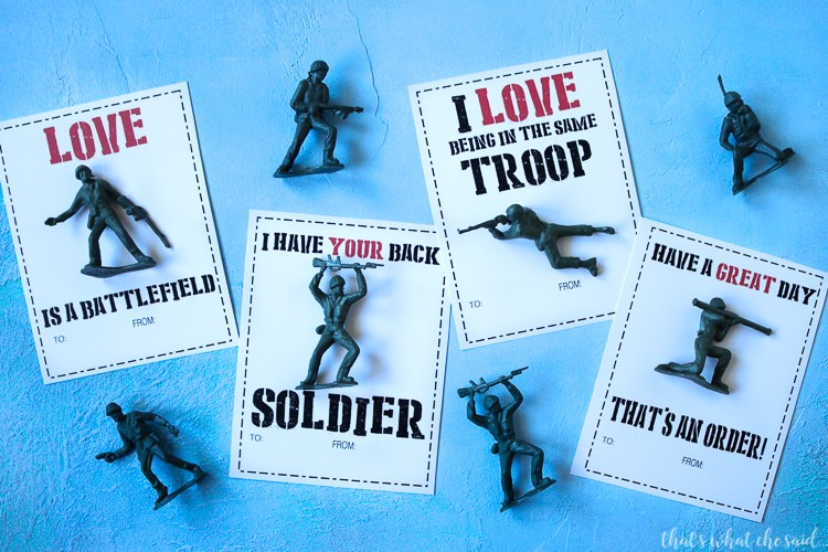 Army Man printable Valentine Cards - That's What Che Said