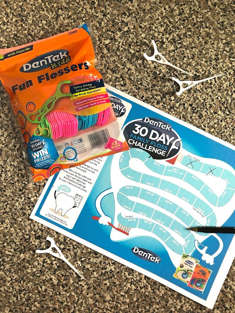 Create Healthy Oral Habits with DenTek® Family Flossing Challenge