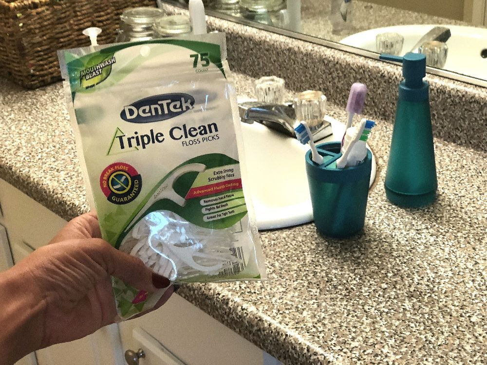 Create healthy oral hygiene habits with DenTek® Triple Clean Floss Picks