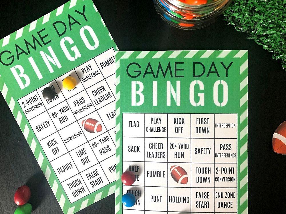 photo about Printable Super Bowl Bingo Cards called Exciting Recreation Working day Social gathering Plans: Totally free Printable Soccer Bingo