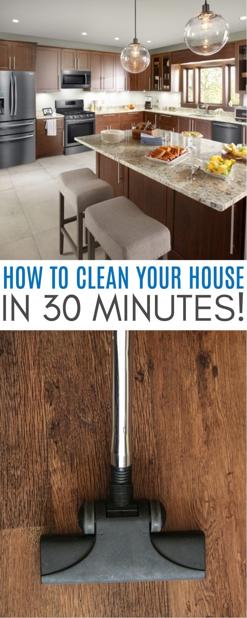 How To Clean Your House In 30 Minutes Before Your Guests Arrive - You need this list for the next time you need to quickly clean your house! quickly clean your house | how to clean your house quickly | weekly house cleaning routine | house cleaning schedule | fake clean house | clean your house in an hour | clean house fast tips | how to clean your room | honeyandlime.co