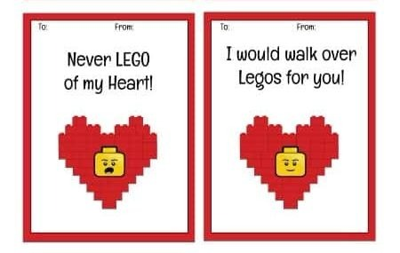 LEGO printavle Valentine cards - Centsable Momma