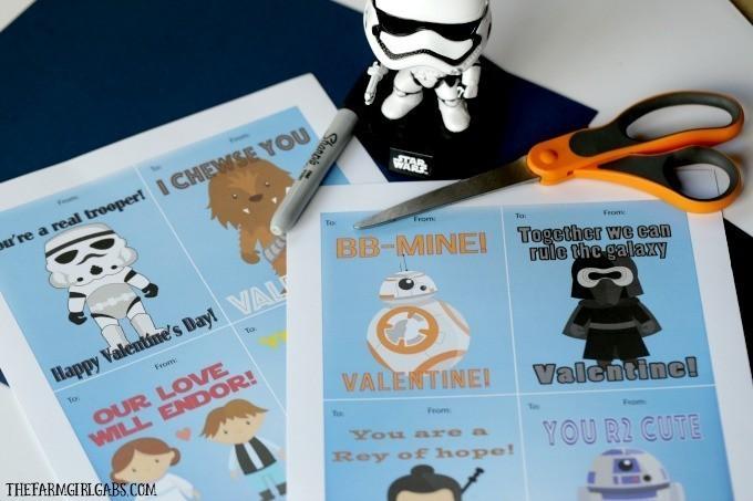 Star Wars printable Valentine cards
