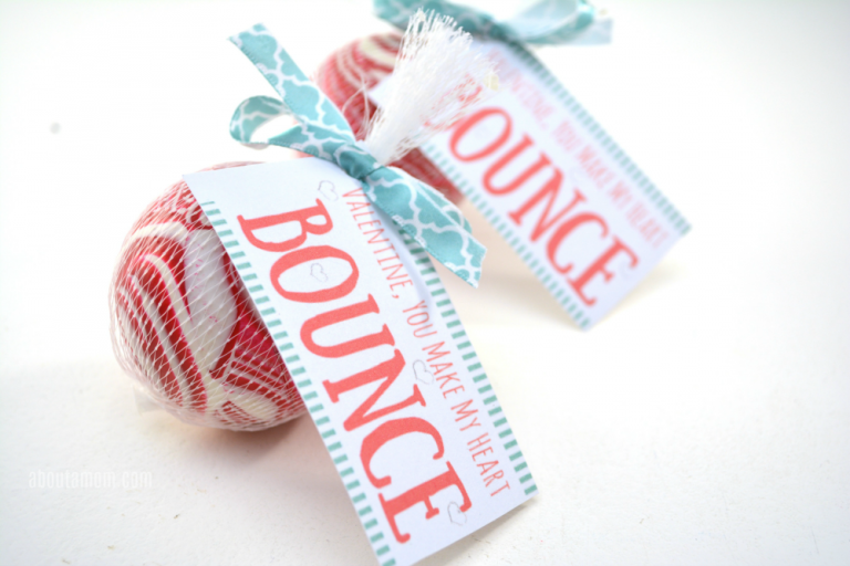 You-Make-My-Heart-Bounce Printable Valentines - About A Mom
