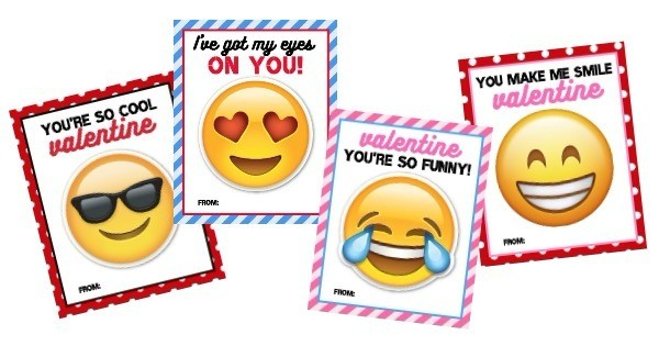 printable emoji valentine cards from honeyandlime.co