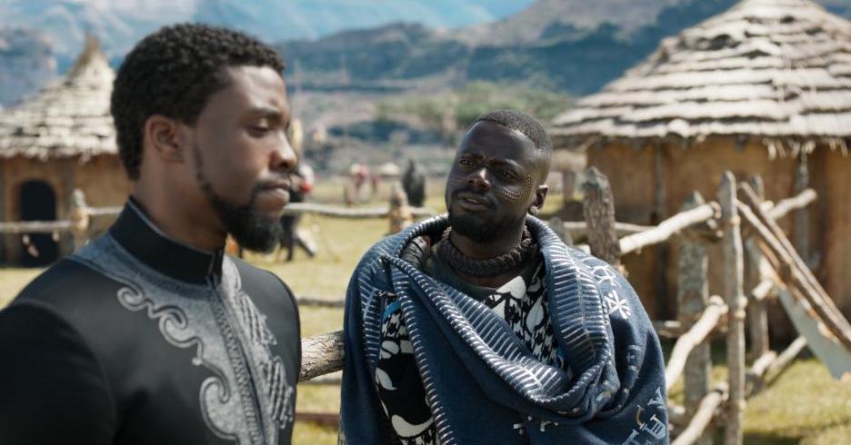 BLACK PANTHER - Daniel Kaluuya and Chadwick Boseman