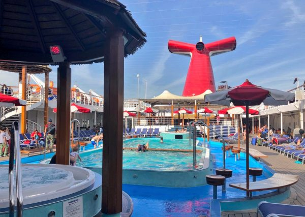 Deck 10 pool area of the Carnival Imagination ship