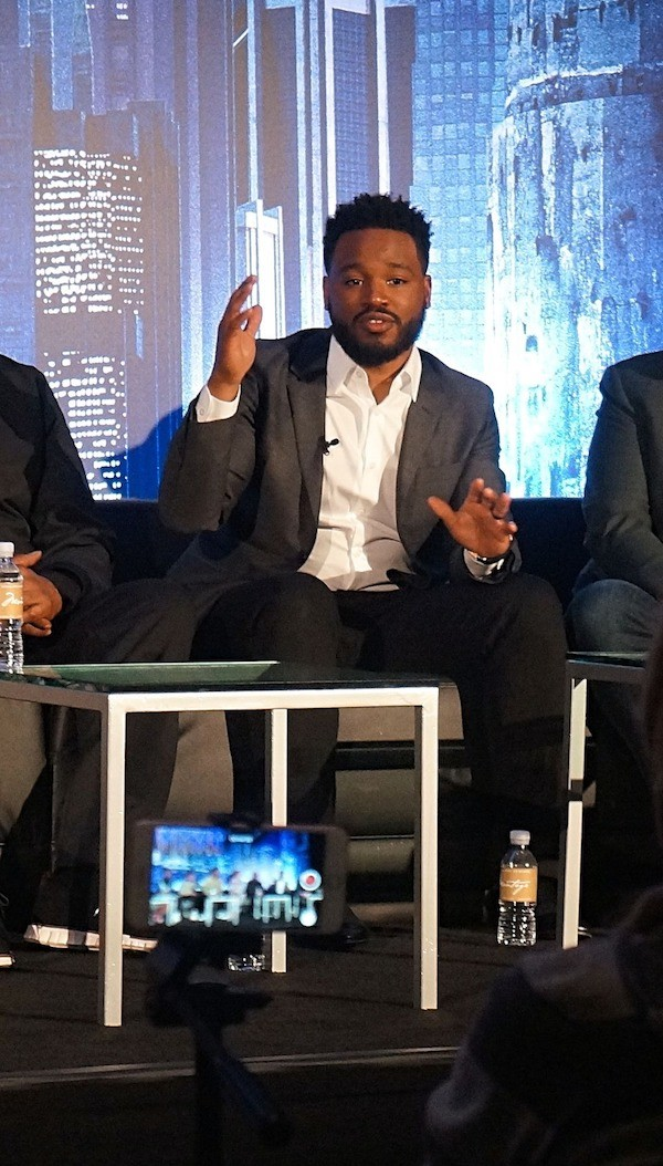 Director Ryan Coogler at the Black Panther press conference