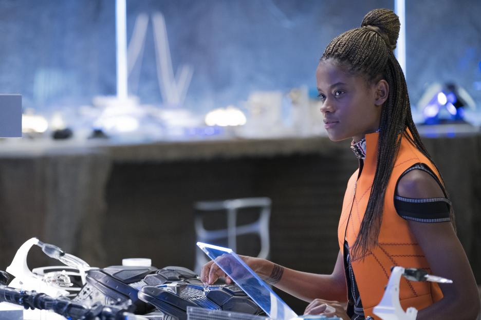 Marvel Black Panther, Leitita Wright plays Shuri