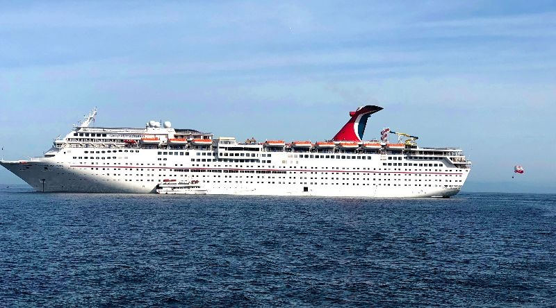 Photo of Carnival Imagination cruise ship docked at Catalina Island port
