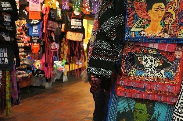 Skeleton souvenir on Olvera Street