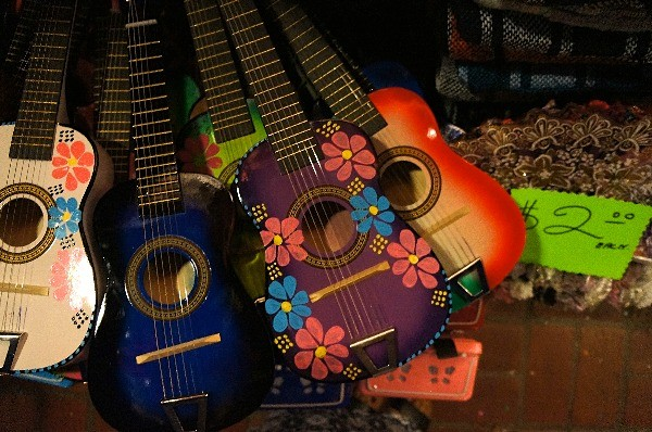 Souvenir guitars on Olvera Street in Los Angleles