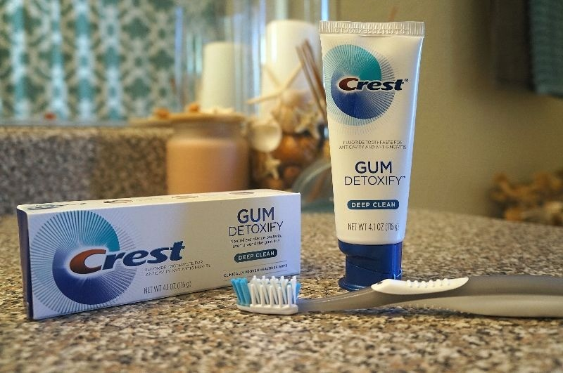 Step up your oral care routine a notch with Crest® Gum Detoxify™ toothpaste