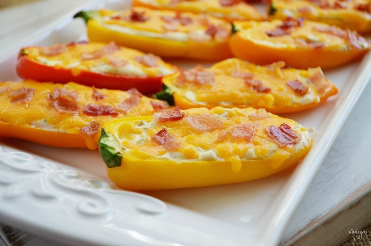 Sweet Pepper Poppers Appetizer - Finding Zest