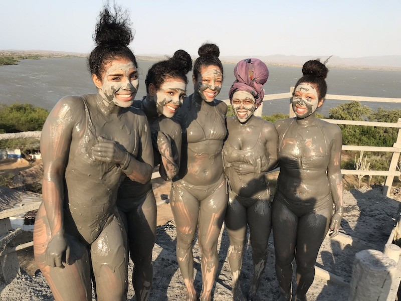 After our mud bath in Volcan del Totumo tour, Cartagena, Colombia