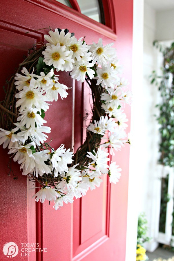 DiY daisy wreath