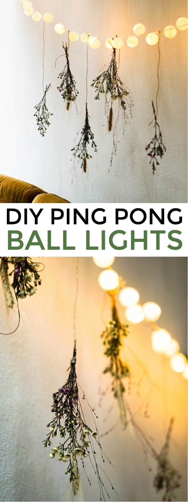 Easy DIY Ping Pong Ball Lights - Add A Little Fun To Your Outdoor Space! ping ping ball lights diy | ping pong ball lights wedding | ping pong lights | diy ping pong lights decoration | honeyandlime.co