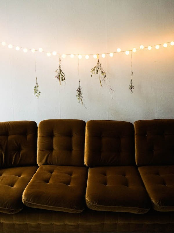 Easy DIY ping pong ball lights hanging on the wall