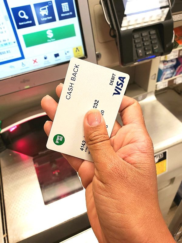 Shopping with Green Dot cash back Visa debit card