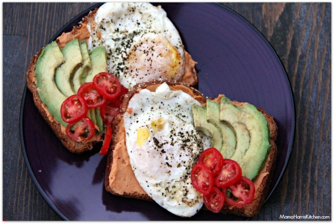 Skinny Girl hummus breakfast toast - Mama Harris Kitchen