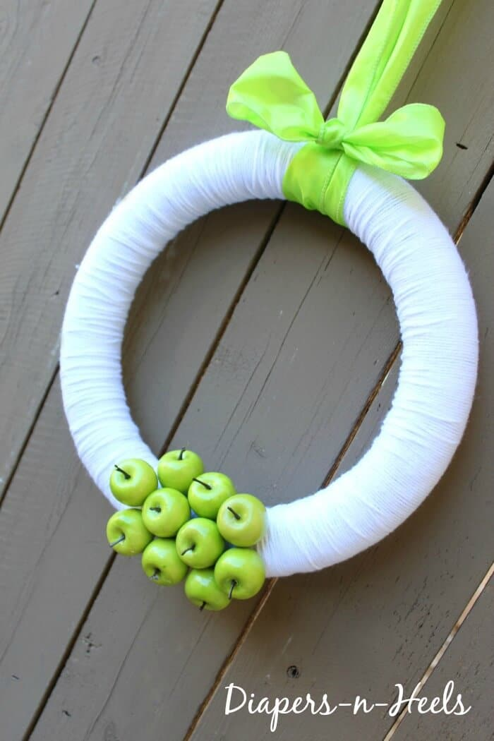 spring apple wreath