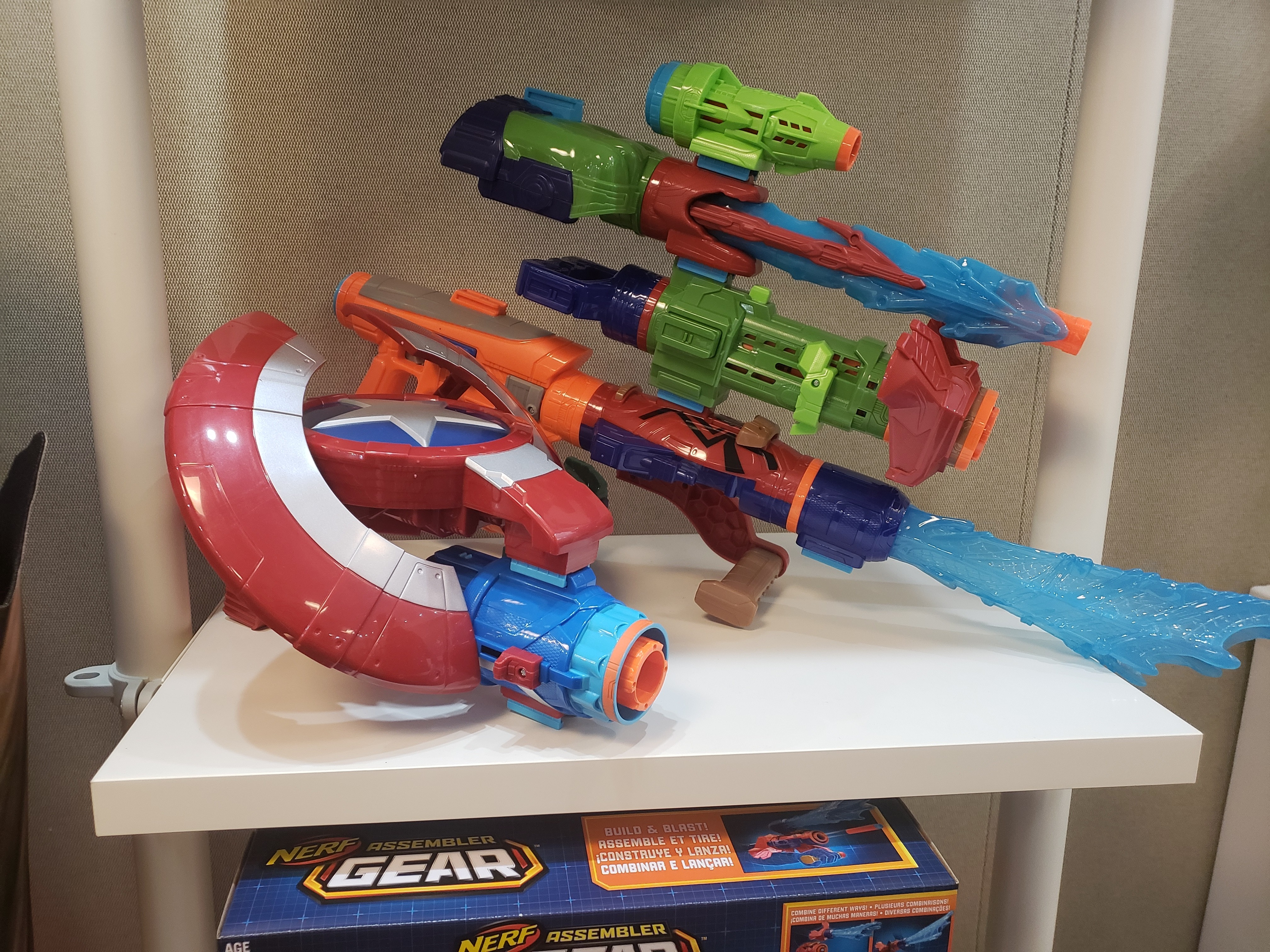 Avengers Infinity War Assemblers Gear NERF blasters