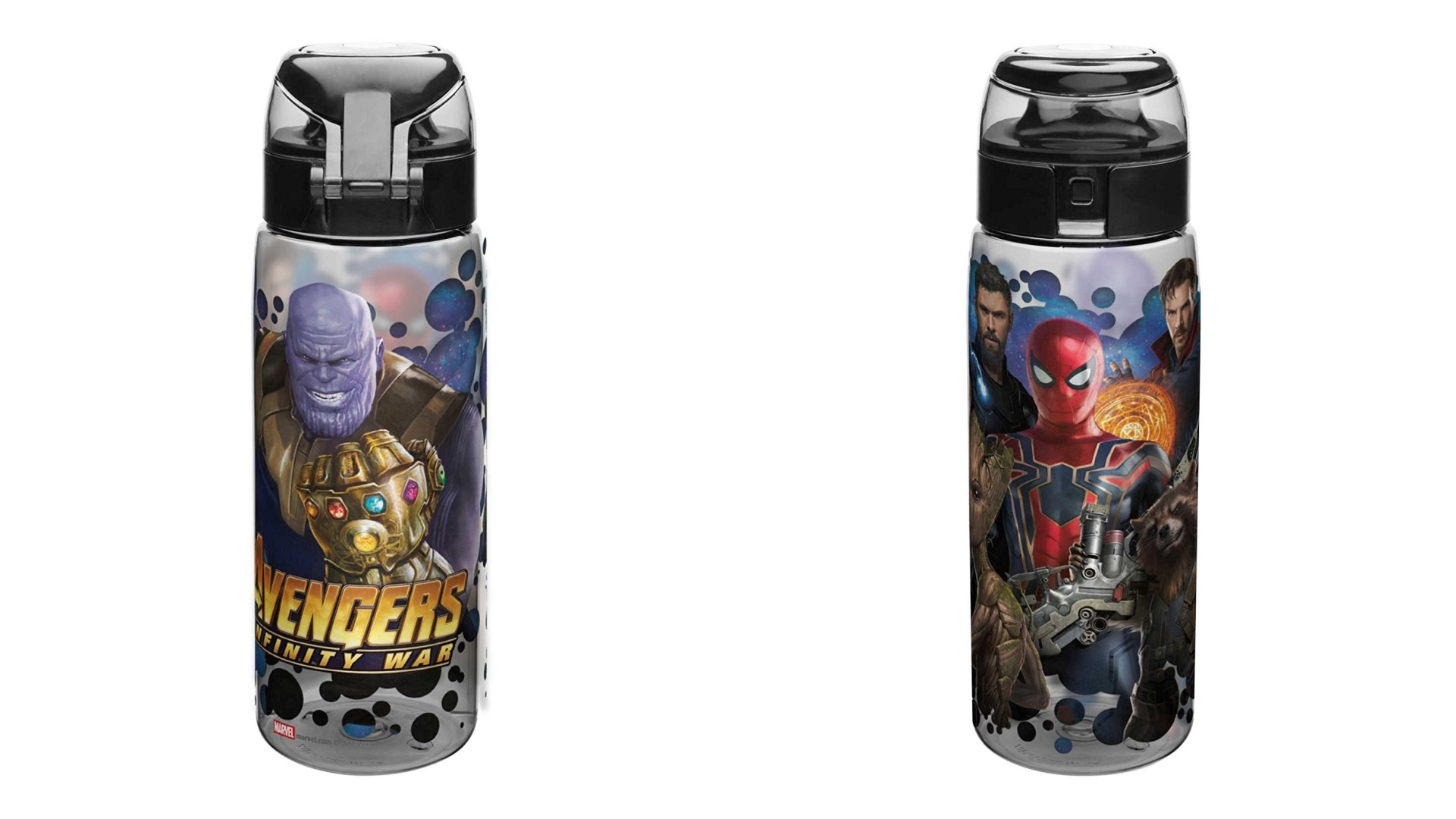 Avengers Infinity War merchandise Zak Designs water bottle