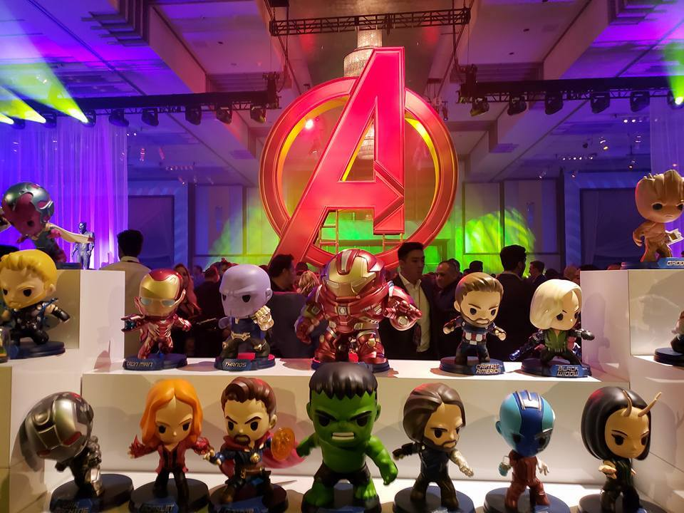 Avengers Infinity War movie premiere after party decor