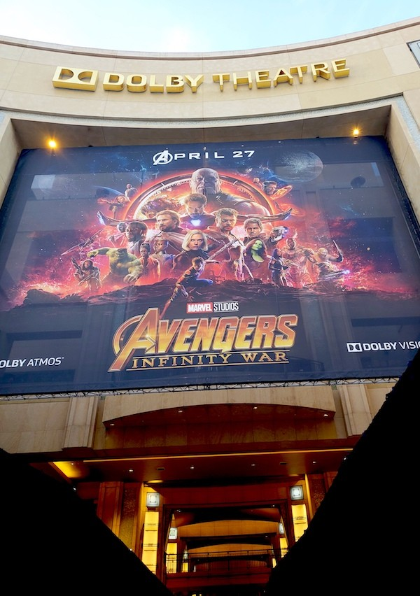 Avengers Infinity War movie premiere at the Dolby Theater, Los Angeles