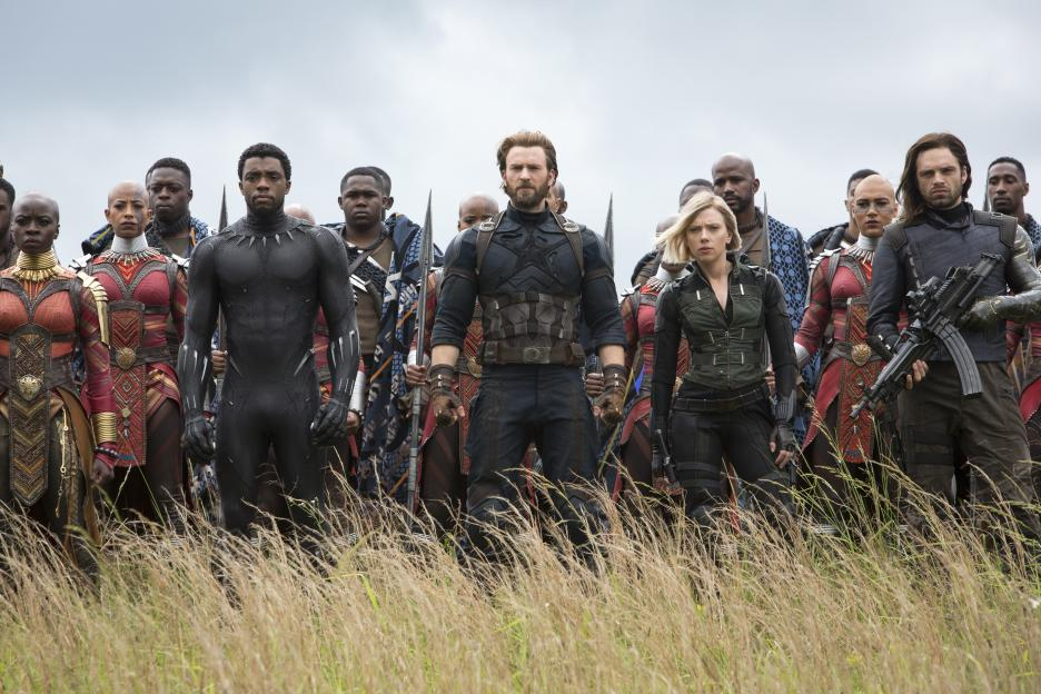 InfinityWar Black Panther, Captain America, Black Widow, Winter Soldier, Dora Milaje