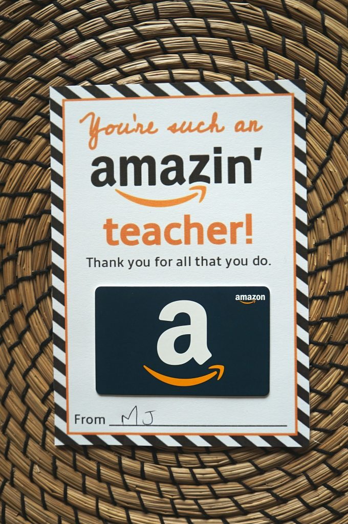 photo regarding Amazon Printable Gift Card identified as No cost Amazon Instructor Reward Card Printable Template - Deliver Present