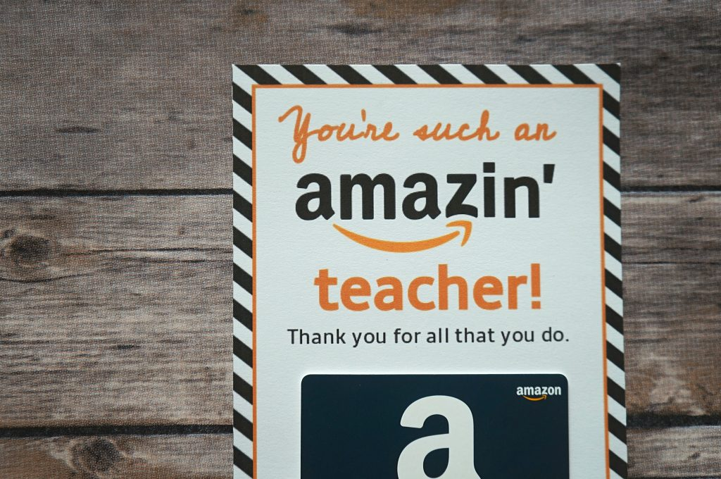 photo about Free Printable Gift Card Holder Templates named No cost Amazon Instructor Present Card Printable Template - Supply Present