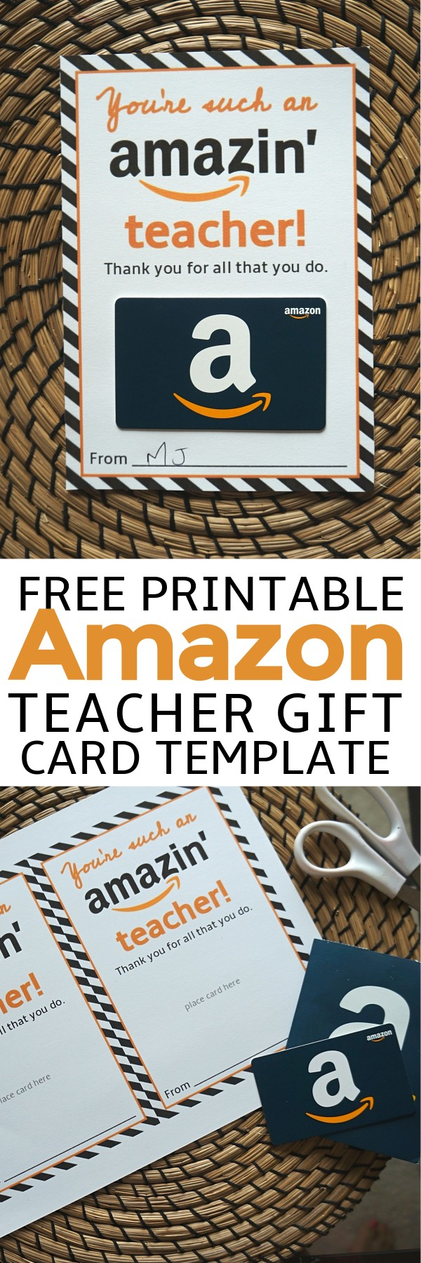 photograph relating to Amazon Gift Card Printable named Totally free Amazon Trainer Reward Card Printable Template - Deliver Reward