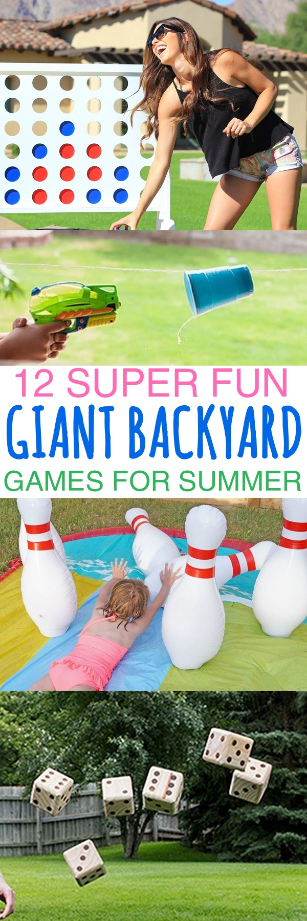 12 Summer Giant Backyard Games To Play and Outdoor Game Ideas For The Whole Family - list of outdoor games | fun easy outdoor games for kids | giant games | jumbo yard games | top 10 outdoor games list | DIY outdoor games | Remove term: fun outdoor games for large groups fun outdoor games for large groups | honeyandlime.co