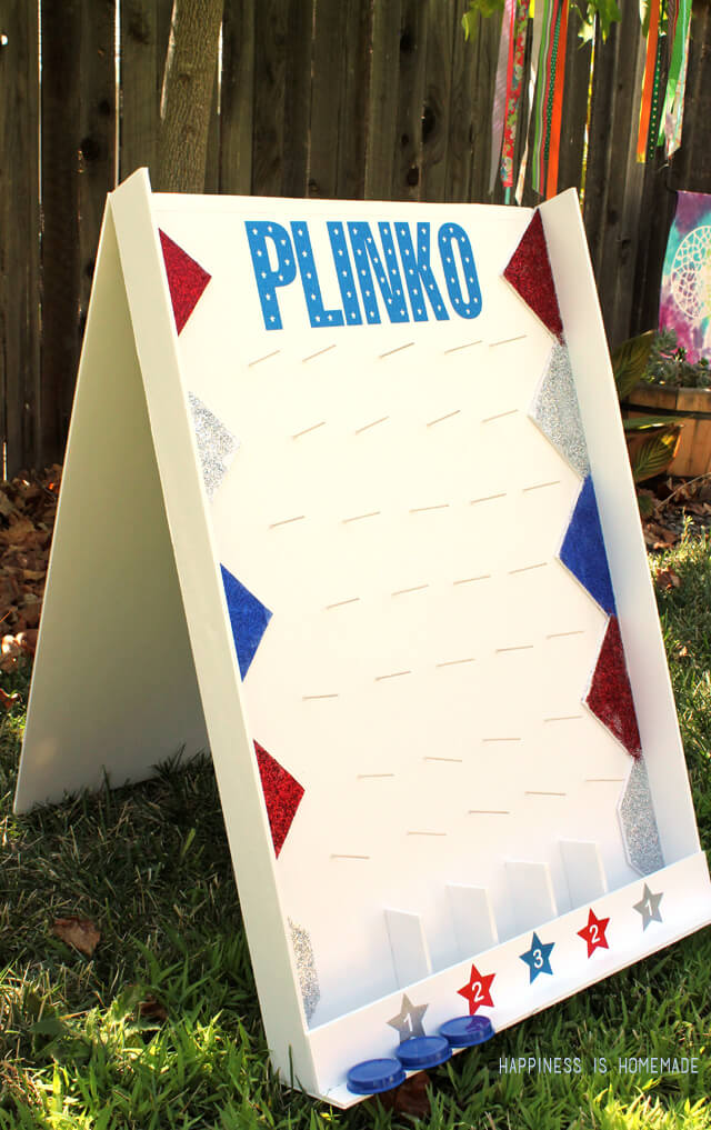 DY outdoor games - Homemade backyard plinko game, Happiness Is Homemade