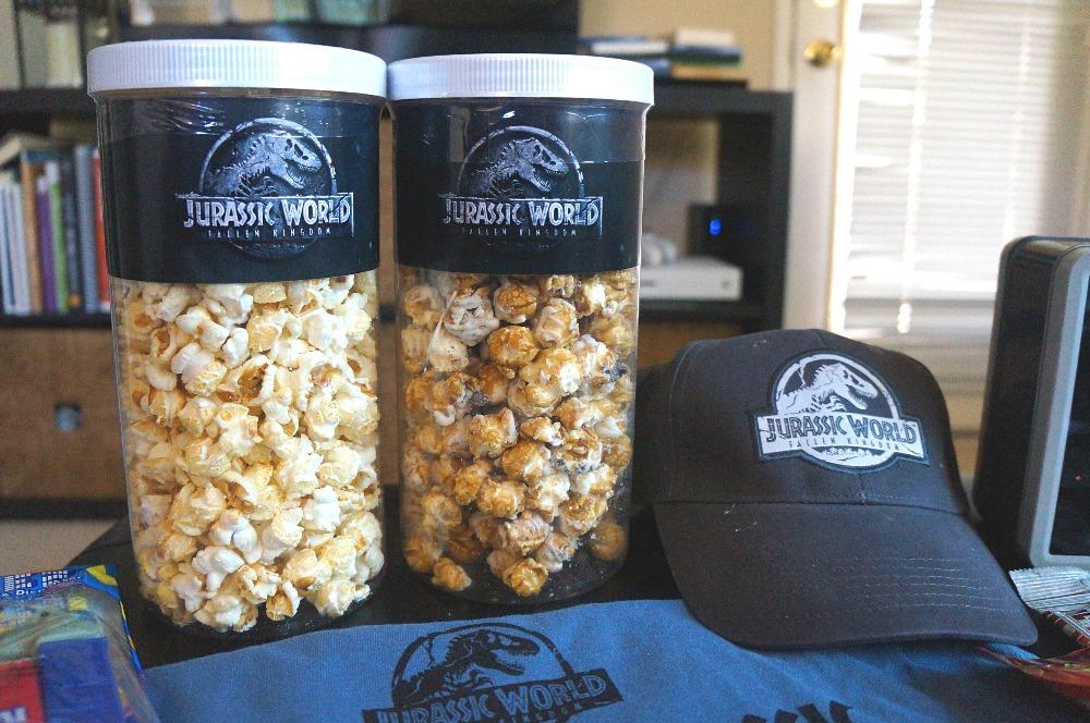 Jurassic World 2 DVD movie popcorn
